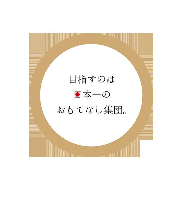 目指すのは日本一のおもてなし集団